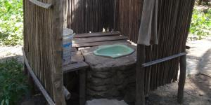 Raised toilet in village in East Nusa Tenggara, Indonesia